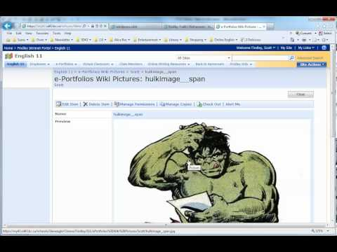 SharePoint How 2 Put Pictures in Wiki