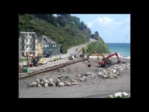 Sea defence regeneration Seaton, Cornwall