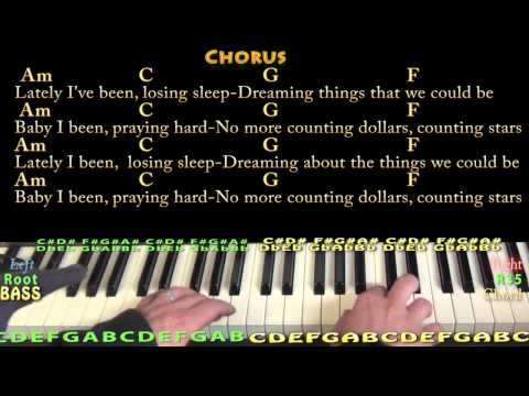 Counting Stars (oNE rEPUBLIC) Piano Cover Lesson in Am with Chords/Lyrics