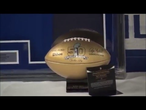 Super Bowl 50 NFL Gold Football SpringfieldHS  Upchurch Web
