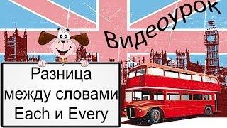 Видеоурок по английскому языку: Разница между словами Each и Every