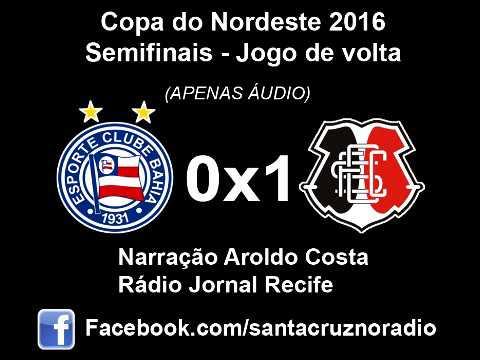 (Áudio) - Bahia 0x1 Santa - Nar. Aroldo Costa, Rádio Jornal PE - Copa NE 2016