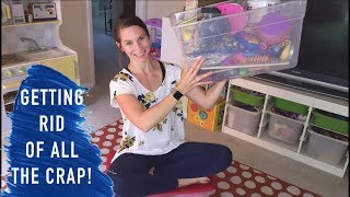 Extreme Declutter and Organize, Clean With Me- The Playroom! aka Dungeon