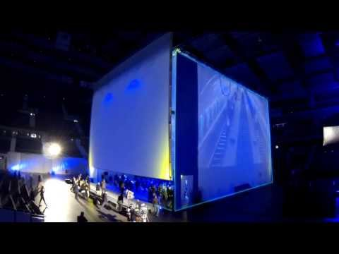 Barco projectors facilitate immersive cube concept by event agency Global Events