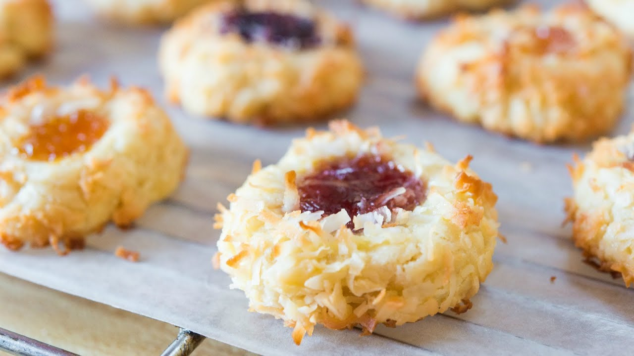 Jam thumbprint cookie recipe christmas cookie collaboration youtube forumfinder Images