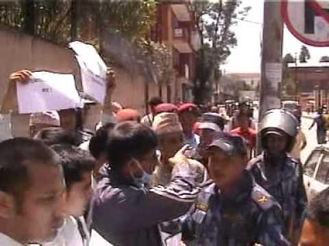 UN Protest  Nepal  Office