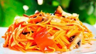 Острый Салат с Жареными Овощами По - Корейски ♥ Постный Салат ♥ Рецепты NK cooking