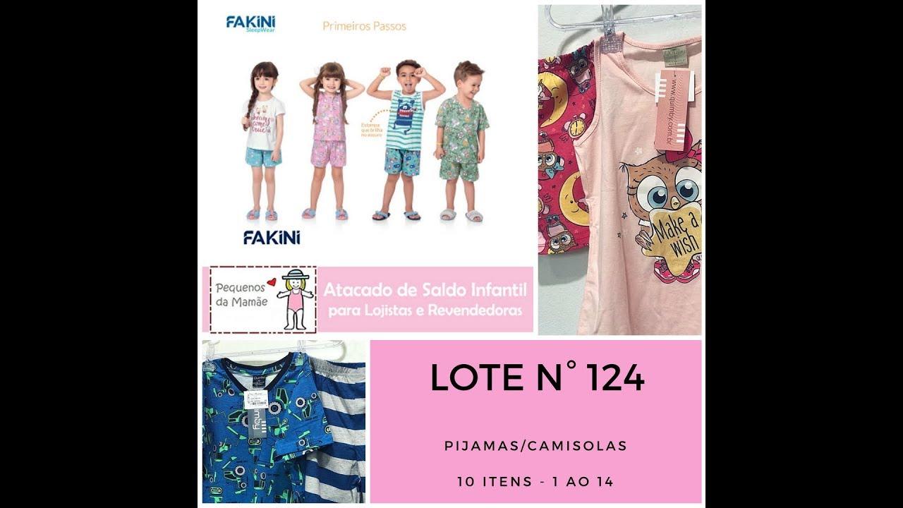 172afeb9e (ESGOTADO) Pijama Infantil - caixa fechada com 10 peças sortidas - para sua  loja ou revenda