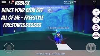 Roblox-Dance Your Blox Off [Mobile Version]- All of Me- Freestyle