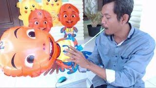 Tips Meniup Balon Karakter UpinIpin & Tayo | Lagu Balonku Ada …