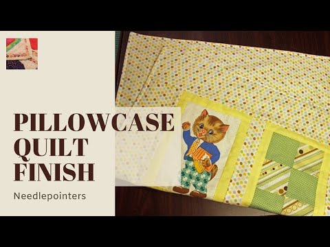 How To Finish A Quilt Without Using A Binding Youtube