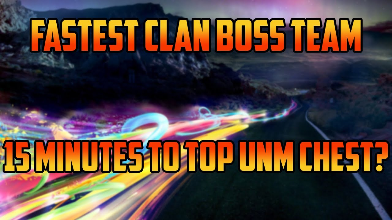 Fastest UNM Clan Boss Team I Raid Shadow Legends