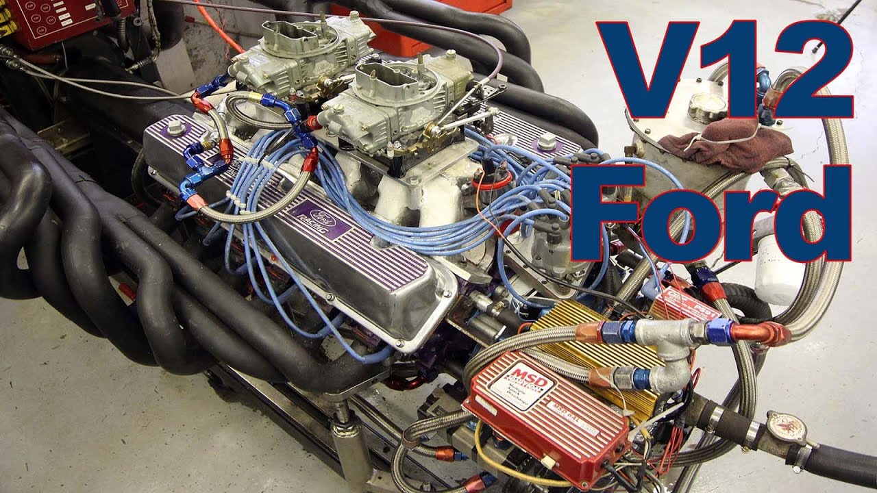 One-of-a-Kind V12 Ford on the Dyno