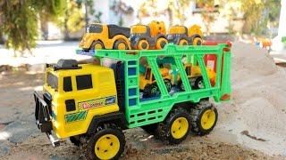 Excavator & Truck รถเทเลอร์บรรทุกรถก่อสร้าง รถแม็คโคร รถบรรทุก รถดั้ม ตะลุยน้ำลึก รถตักดิน