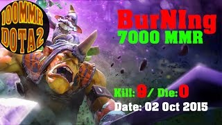 iG.Burning play Alchemist fast farm and fast godlike - Dota 2 ranking (02.10.15)