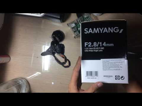Samyang 14mm f2.8 for canon unboxing