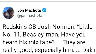 Josh Norman finally speaks about Cole Beasley