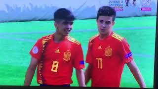 Gol de Jordi Ortega del Cadete A con España Sub-15
