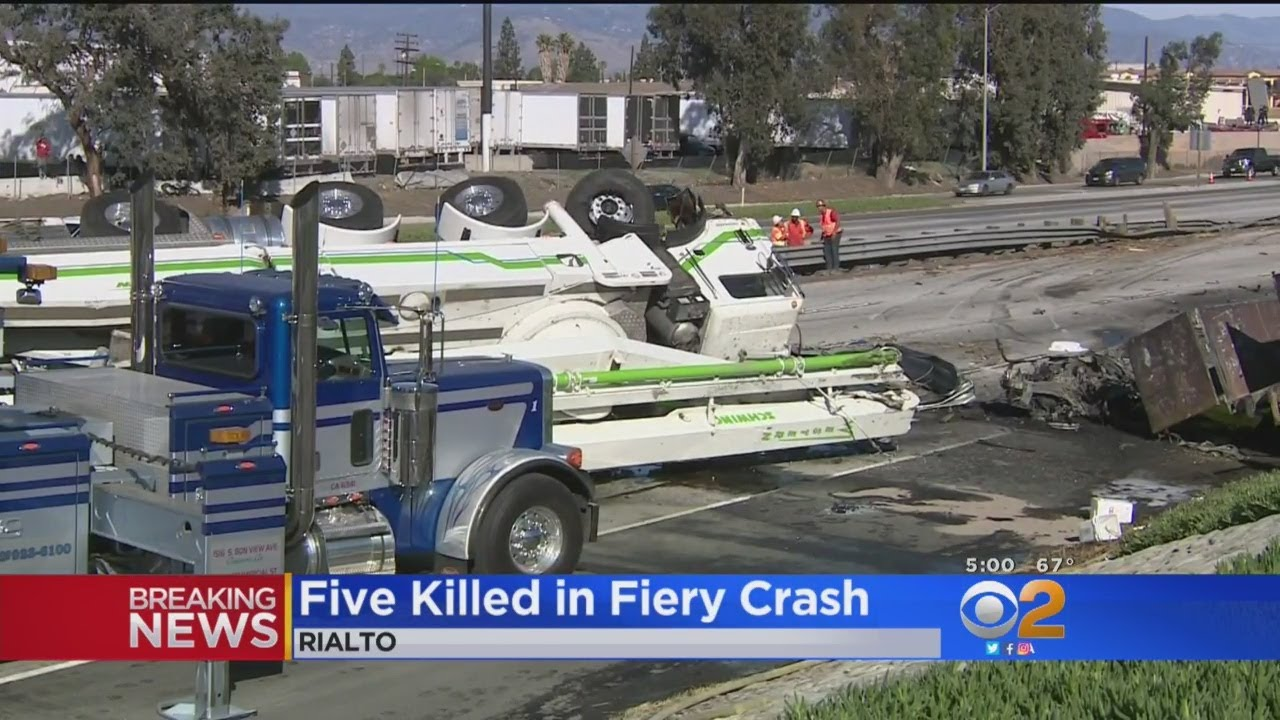 At Least 5 Killed Following Fiery Crash On 10 Freeway