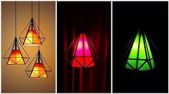 Diy diamond shape roof hanging lamp/ Best home decorations ideas