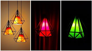 Diy diamond shape roof hanging lamp/ Best home decorations ideas
