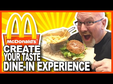 "Create Your Taste ""Dine-In Experience"" Partnership with McDonald's"