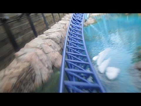 Manta Front Seat on-ride HD POV Seaworld San Diego