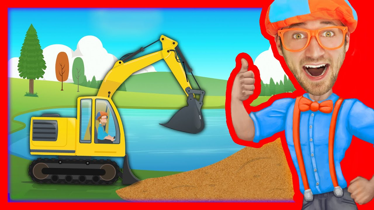 Mini Car Hd Wallpaper Construction Vehicles For Kids With Blippi The Excavator