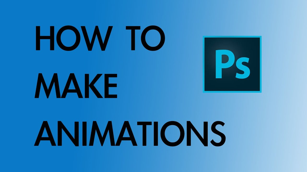 how to make a simple animation in photoshop cc youtube