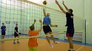 Обучение волейболу. Упражнения на отработку нападающего удара и блока