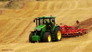 Cultivating Stubble with John Deere 7280 R