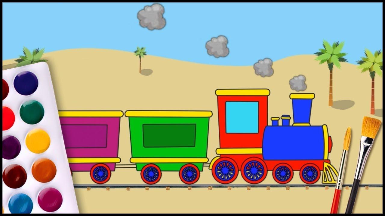 Pagini De Colorat Un Trenuleț Filmulet Pentru Copii