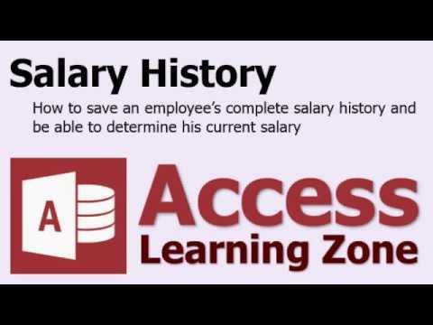 Microsoft Access Salary History