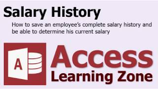 Microsoft Access Salary History - Aggregate Query, Max Function