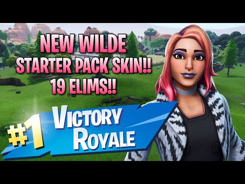 New Wilde Starter Pack Skin!! 19 Elims!! - Fortnite: Battle Royale Gameplay