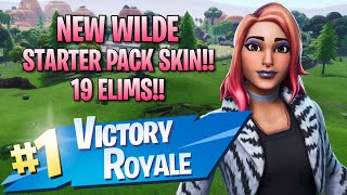 New Wilde Starter Pack Skin!! 19 Elims!! - Fortnite: Battle Royale Gameplay