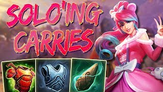 Artio Support Masters: SOLO'ING CARRIES AS A TANK..... - Ranked Smite