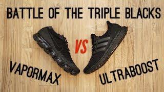 Triple Black Ultraboost vs Triple Black Vapormax