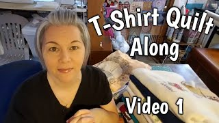 T-Shirt Quilt Along - Video 1 - Here we go cutting & stabilizing shirts!