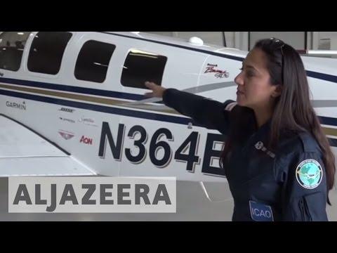 Afghan-American woman pilot breaks barriers with solo world flight