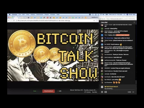 Bitcoin Talk Show #50 - Wednesday January 31, 2018 #LIVE - SKYPE WorldCryptoNetwork