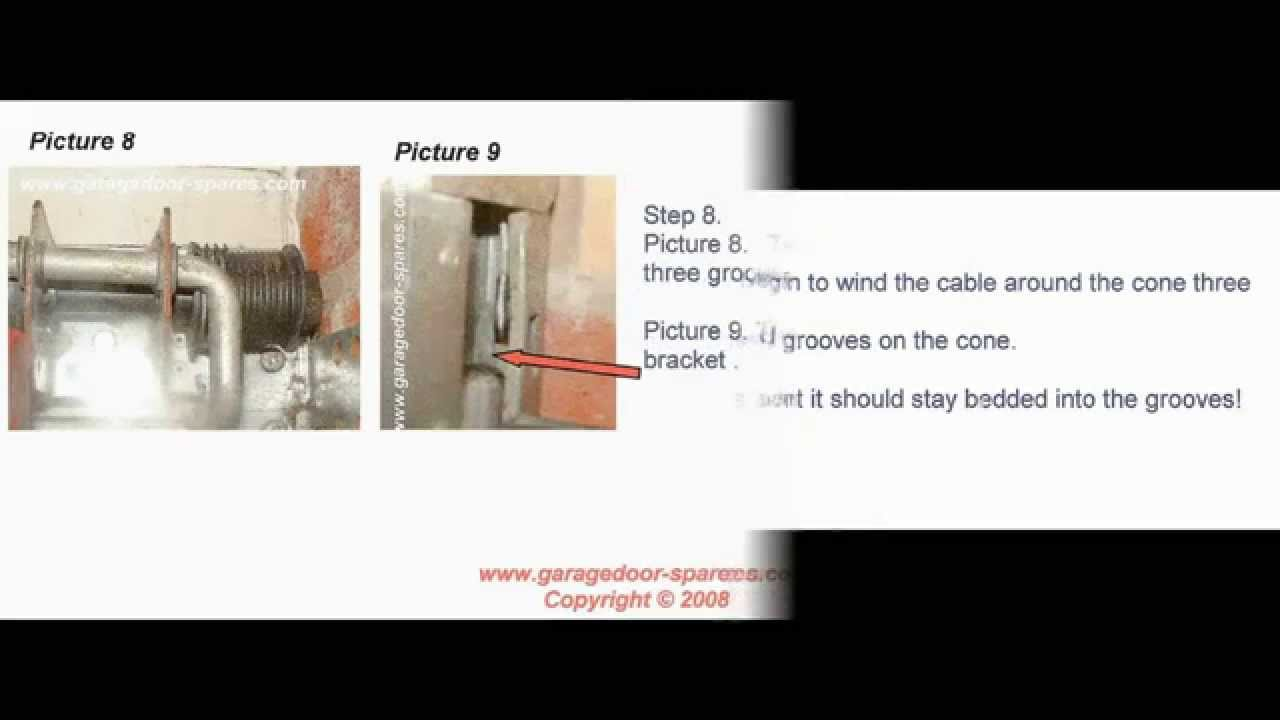 How To Change The Cables On A Cardale Safelift Cd Pro Garage Door