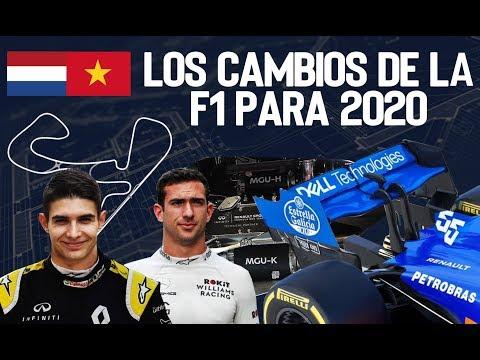 Los CAMBIOS de la FRMULA 1 para 2020
