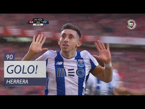 Goal | Golo Herrera: Benfica 0-(1) FC Porto (Liga NOS 17/18 #33)