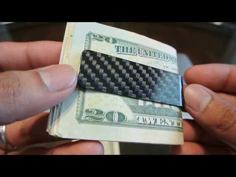 CL CARBONLIFE Carbon fiber Money Clip Credit Card holder