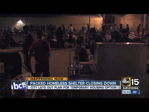 Packed homeless shelter in downtown Phoenix closing down
