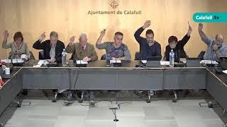 Ajuntament de Calafell: sessió plenària ordinària, 5 de novembre de 2018
