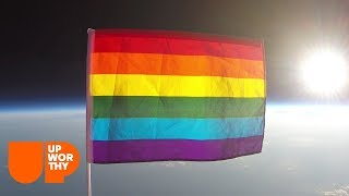 They sent an LGBTQ flag into space to promote equality in this world and beyond. | Upworthy