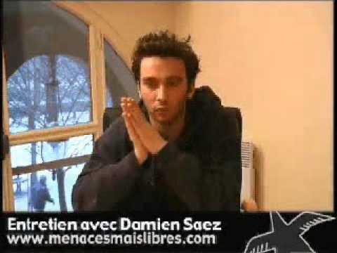 Damien Saez (18 janvier 2003 - Collectif Menacés mais libres) Interview