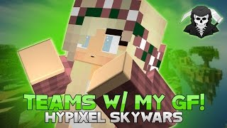 TEAMS WITH MY GIRLFRIEND + PEARL CLUTCHES! ( Hypixel Skywars)
